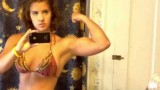 Teen Girl Flexing Her Big Biceps