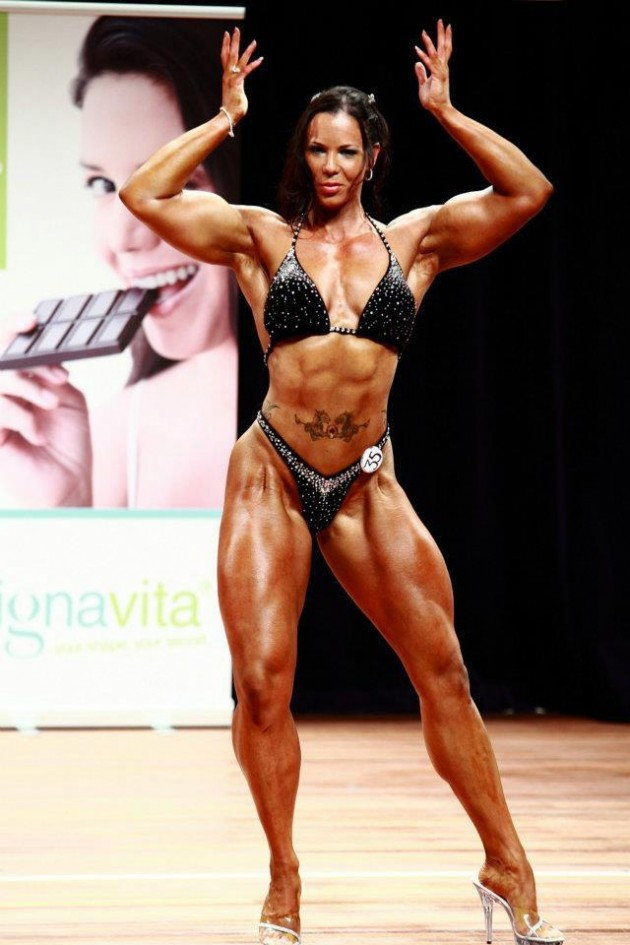 huge bodybuilder female and Tall