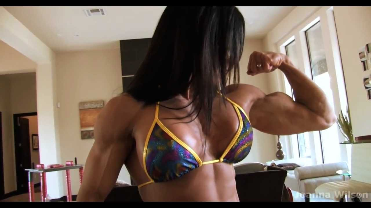 Joanna Wilson – Biceps Flexing