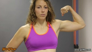 Dominika – Flexing Biceps And Mixed Armwrestling