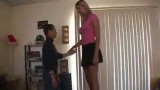 Cassidy Heights – Height Comparison With Short Man