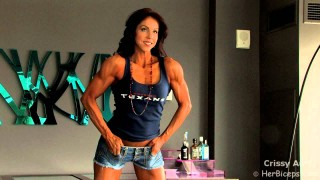 Crissy Autry – Blue Top Posing