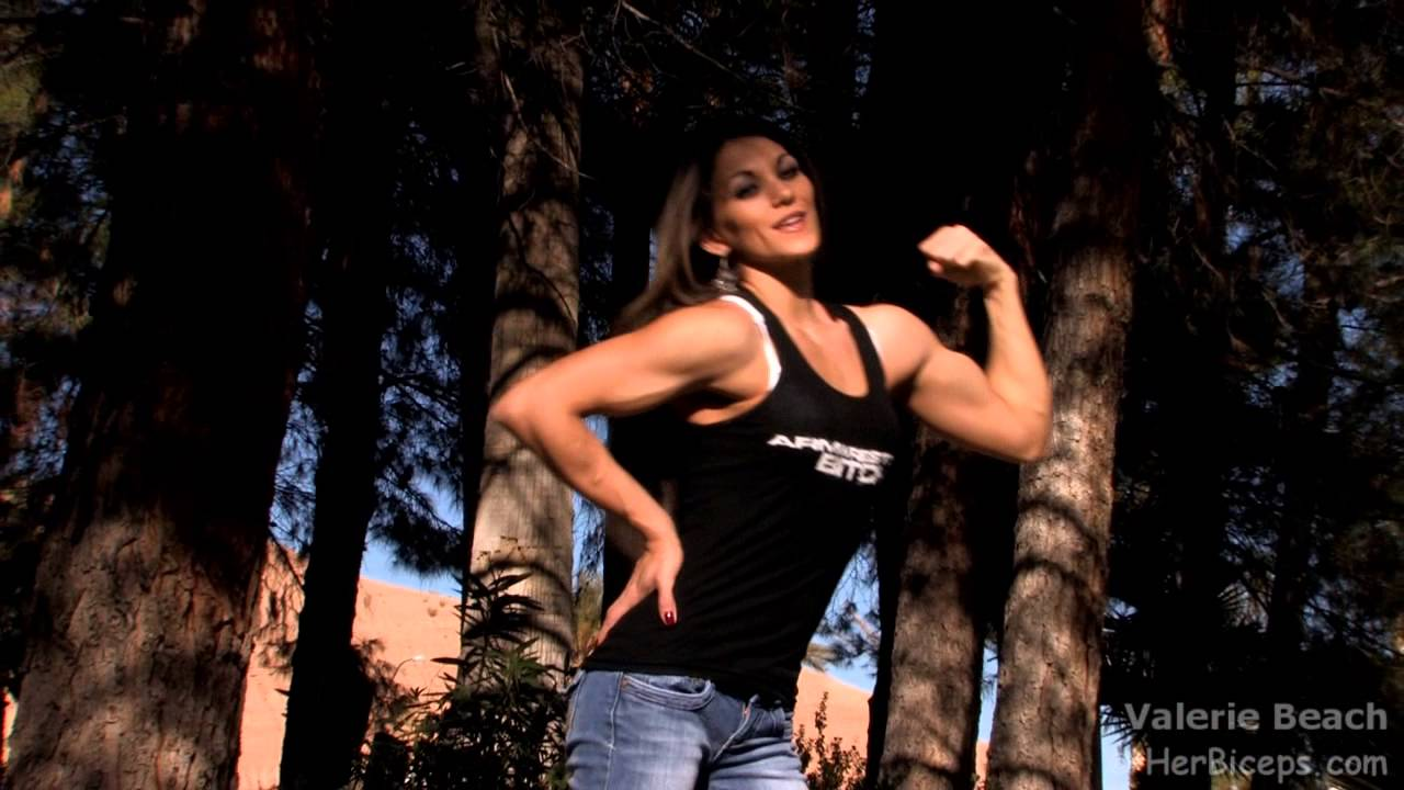 Valerie Beach Flexing