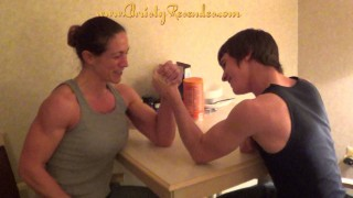 Christy Resendes – Family Time Armwrestling