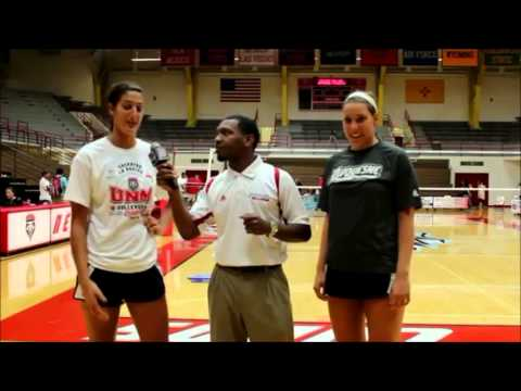 Tall Volleyball Players Interviewed