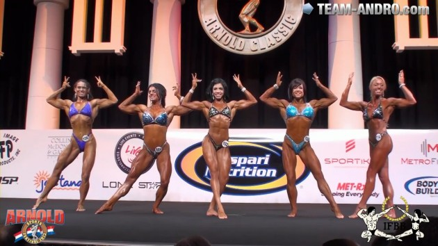Prejudging Women´s Physique up to 163cm Arnold Amateur 2013