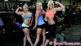 Rikki Smead, Shannon Courtney & Tanya Hyde In The Gym