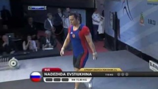 Nadezda Evstyukhina – Weightlifting Champion Of Europe 2013