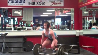 Katherine Welch – Deadlifts 5×2 255lb Trap 18″ 3×15 225lb