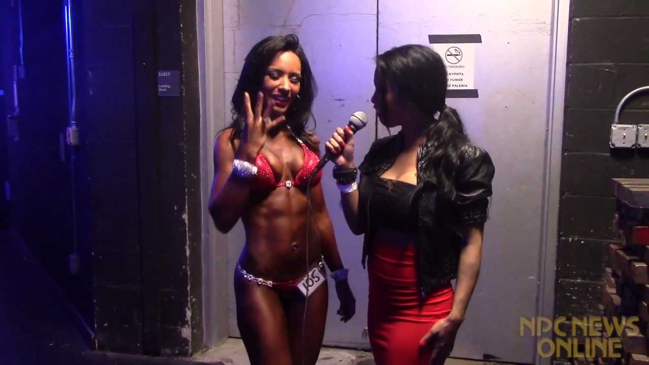 Yeshaira Robles After Winning The 2013 IFBB New York Pro
