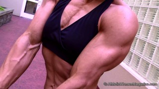 Wendy Lindquist – Flexing And Armwrestling