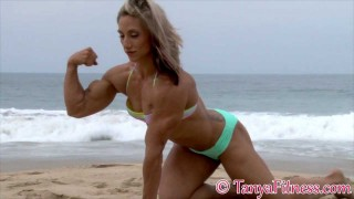 Shannon Courtney – Massive Muscles On The Beach