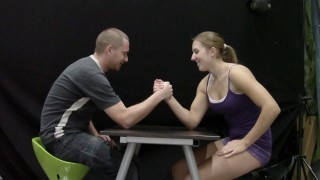 Powerlifter Simona Mixed Armwrestling