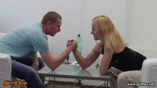 Lulu Mixed Armwrestling In Office
