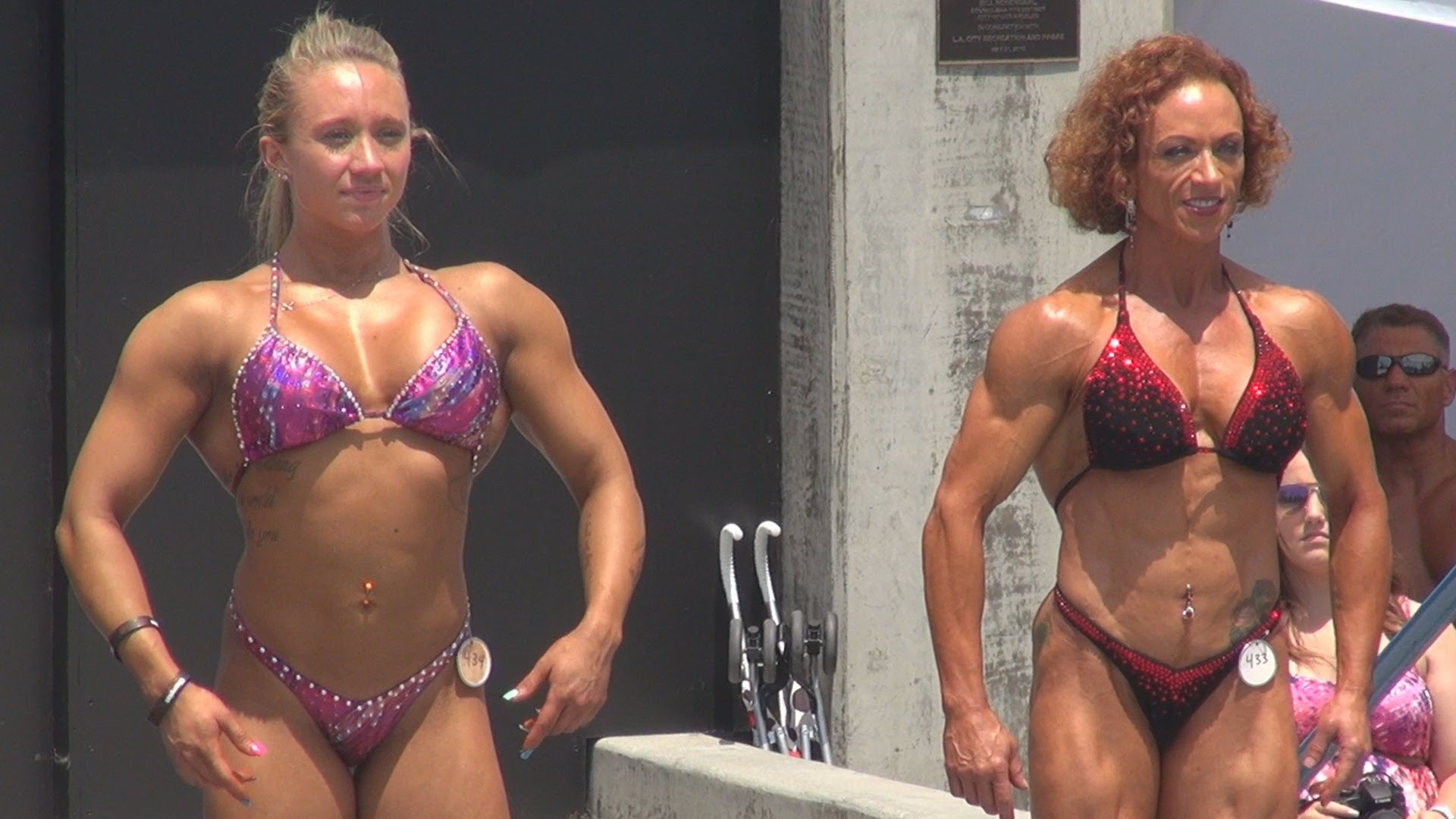 Ariella Palumbo & Rita Kaya At The Muscle Beach 2013
