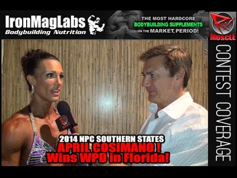 April Cosimano – NPC Southern States 2014 Women's Physique Overall Winner