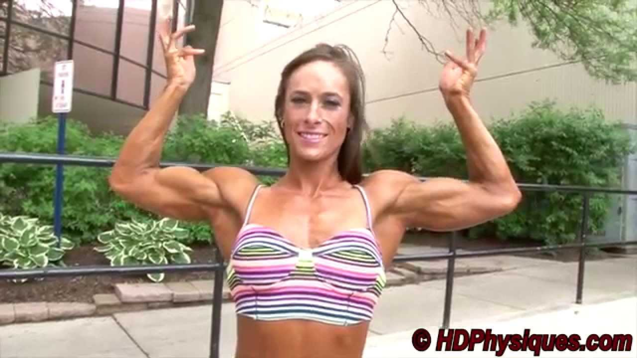 Kimberly Rieck Flexing