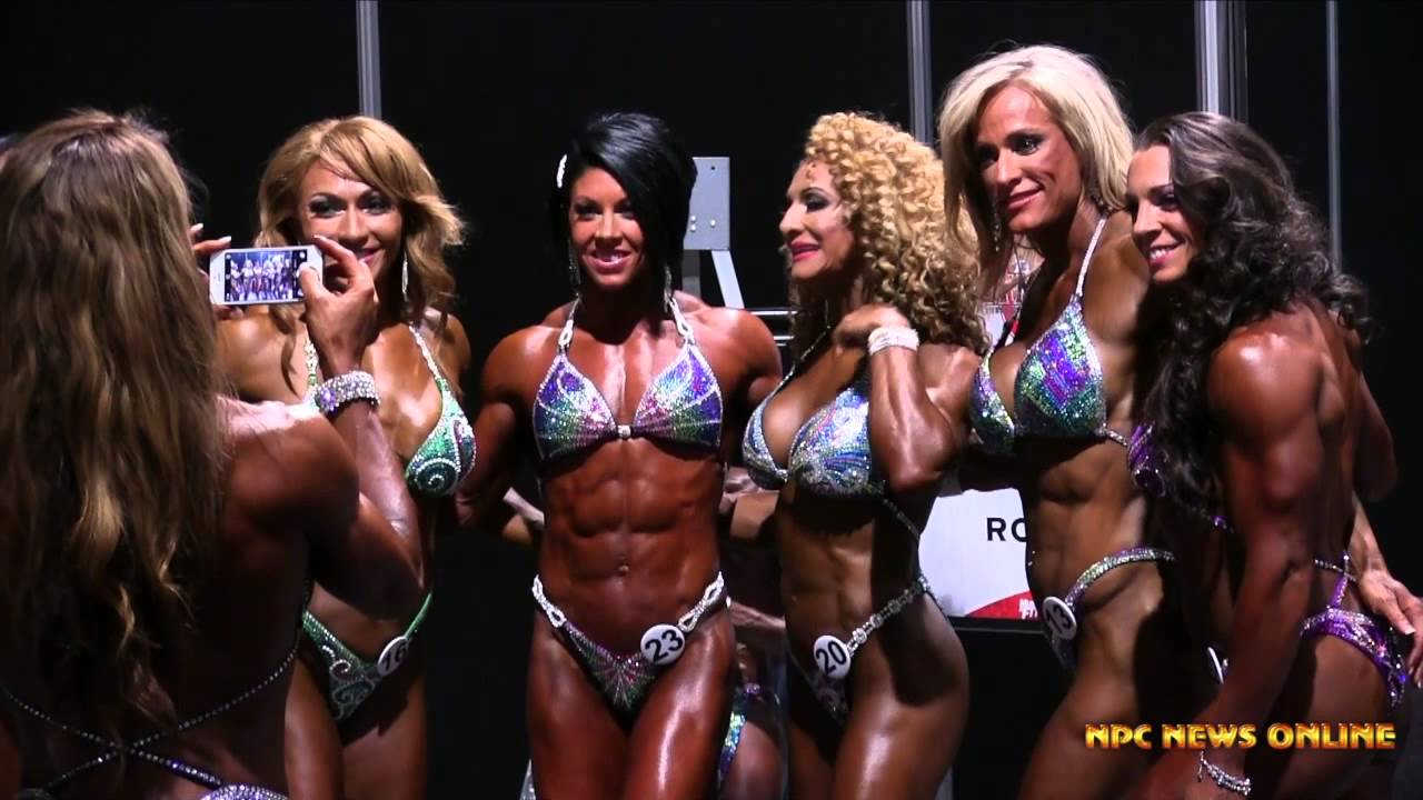 IFBB Olympia 2014 – Women's Physique Backstage Pump Up Room