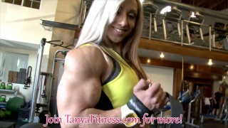 Shannon Courtney & Tanya Hyde At Iron Gym
