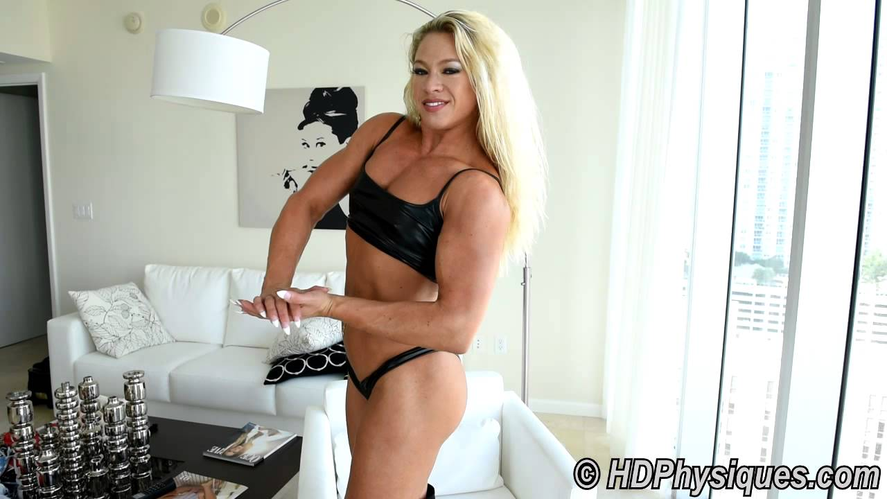 Falon Stacey Flexing