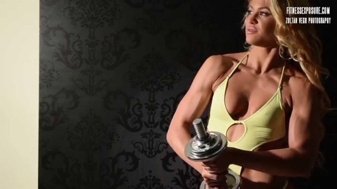 Marianna Bertok Fitness Model Photoshooting Video Part 1.