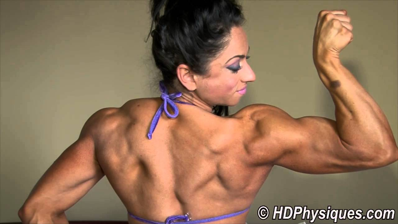 Anna Khudayarov – Big Biceps Flexing