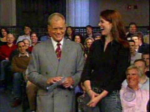 Tall Woman Towers Over Dave Letterman