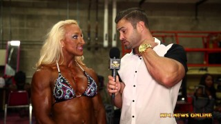Mary Cain Women's Bodybuilding Overall Winner At The NPC USA Championships 2015