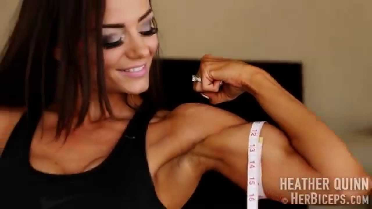 Heather Quinn – Measuring Her Biceps