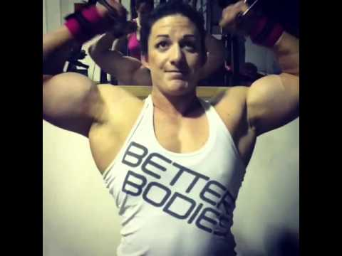 Maz Burn – Massive Female Bodybuilder Biceps Workout