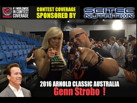 Gennifer Strobo At The Arnold Classic Australia 2016
