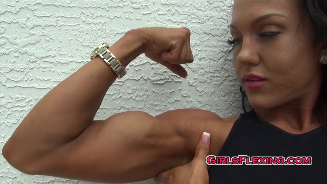 Muscle Girls Biceps Flexing