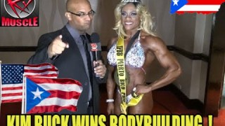 Kim Buck After Winning Pro Women's Bodybuilding In Puerto Rico 2016
