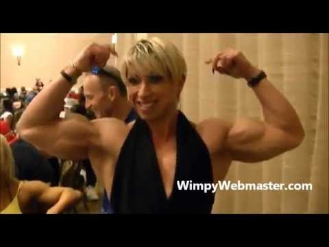 Virginia Sanchez Macias – Huge Biceps Flexing