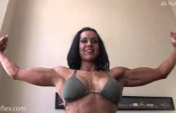 Girl Next Door Biceps Flexing