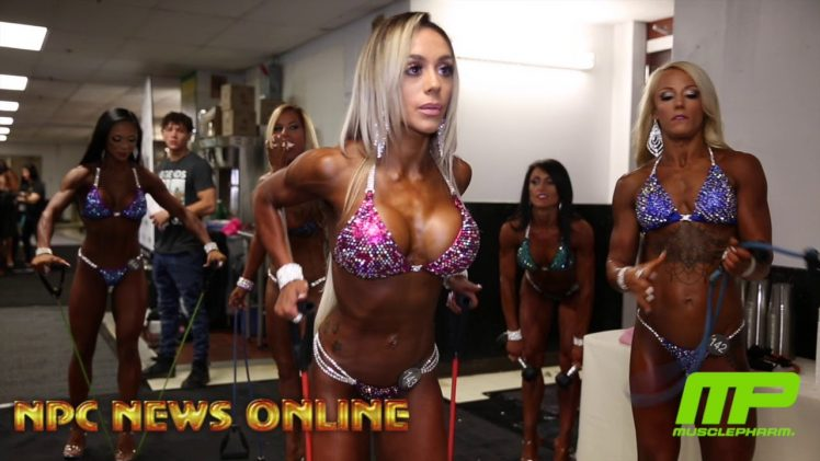 NPC Jr. Nationals 2018 – Women's Bikini Backstage Pre-Judging