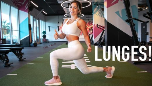michelle lewin lunges exercise a